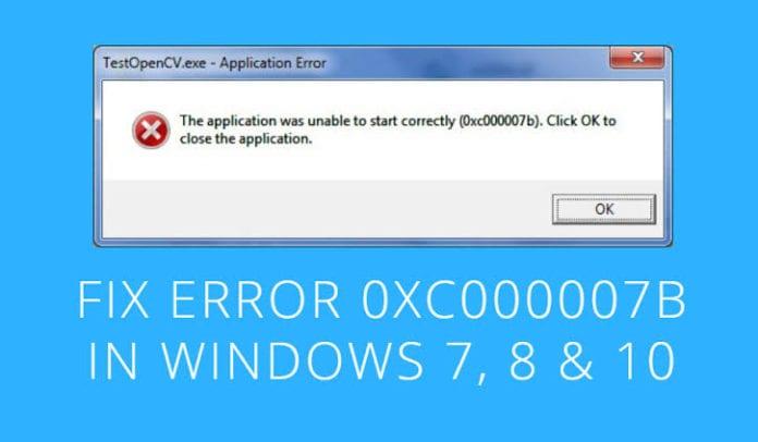 fix error code 0xc000007b