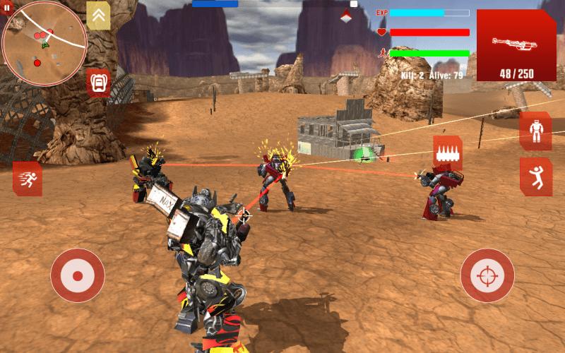 Royal Robots Battleground (Android) offline game