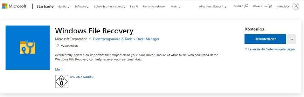 New microsoft windows file Recovery Tool