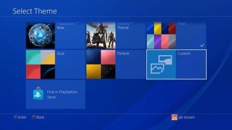 Select preferred PS 4 theme