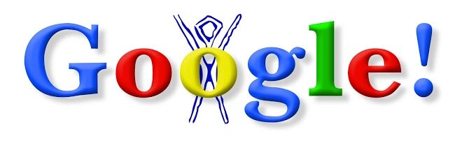 Burning Man, the first Google Doodle (Image: Disclosure / Google)